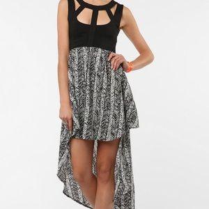 UO Reverse high low flowy dress